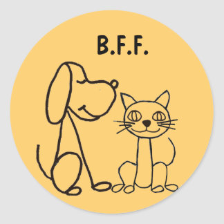 BJ- Cat and Dog BFF Stickers