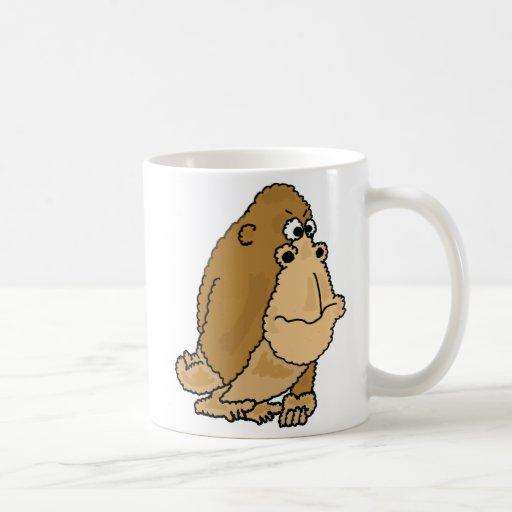 BJ- Funny Gorilla Cartoon Mug