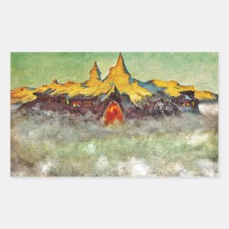 Bjerg - Troll Mountain Rectangle Sticker