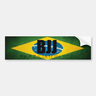 BJJ Brazilian Flag Bumper Sticker