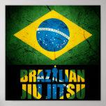 BJJ Brazilian Jiu Jitsu - Brazilian Flag Poster