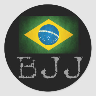 BJJ Brazilian Jiu Jitsu Flag Sticker