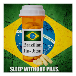 BJJ Sleep Without Pills Large Poster