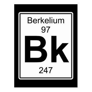 Bk - Berkelium Postcard
