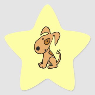 BK- Happy Dog Star Stickers