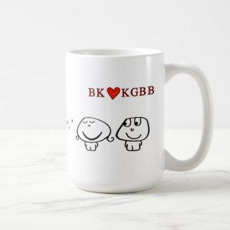 """""""BK heart KGBB"""" Basic White Mug"""