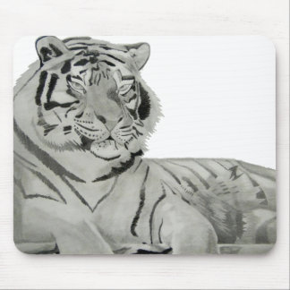 Bklac and White Tiger Mouse Pad