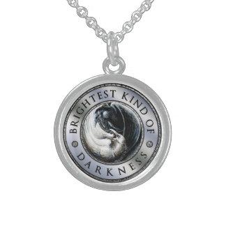BKoD Medallion Raven Necklace in Sterling Silver