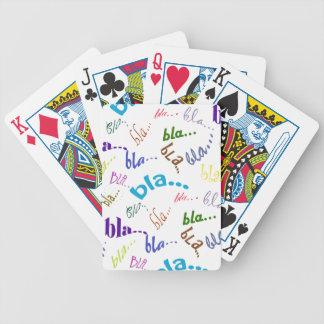 Bla, bla, bla... bicycle playing cards