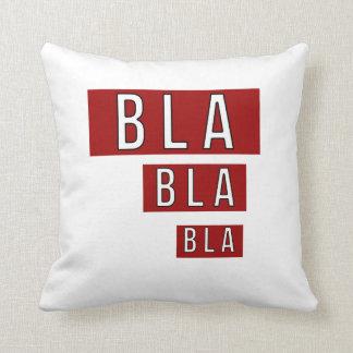 Bla Bla Bla Red Cushion