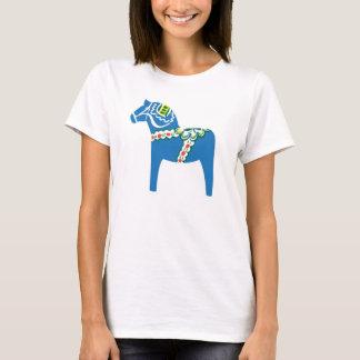 Blå Dalahäst | Dala horse blue T-Shirt