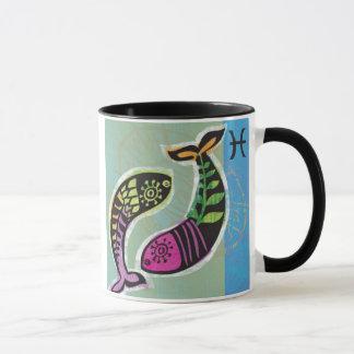 Black 11 oz Combo Mug/Zodiac-Pisces Mug