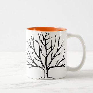 Black 11 oz Two-Tone Mug