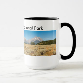 Black 15 oz Ringer Mug Teton Park