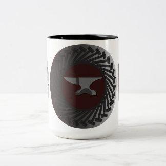 Black 15 oz Two-Tone Mug - ANVIL & HAMMERS