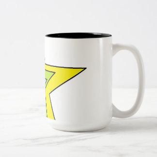 Black 15 oz Two-Tone Mug art by Jennifer Shao