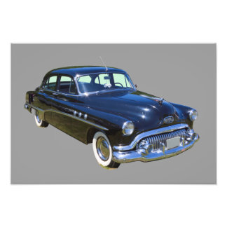 Black 1951 Buick Eight Antique Car Photo
