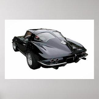 Black 1963 Corvette Stingray Poster