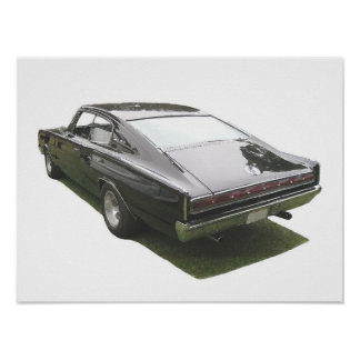 Black 1967 Dodge Charger poster