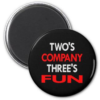 Black 2 Company 3 Fun 6 Cm Round Magnet