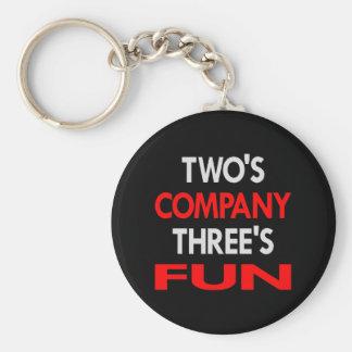 Black 2 Company 3 Fun Keychain