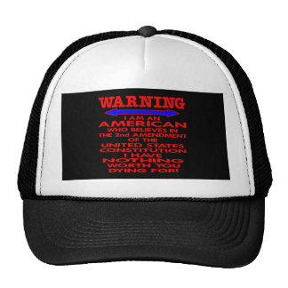 Black 2nd Amendment American Mesh Hats