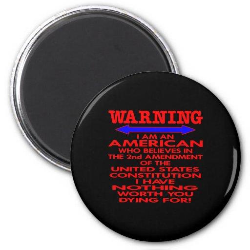 Black 2nd Amendment American Magnet