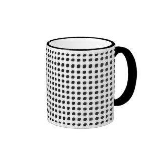 Black 3 Side Boxes Ringer Mug