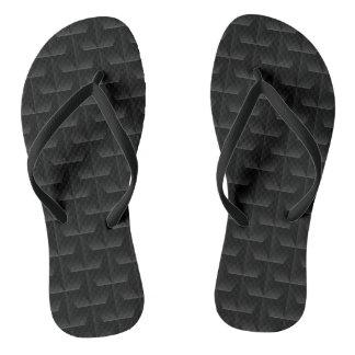 Black 3D mesh Thongs