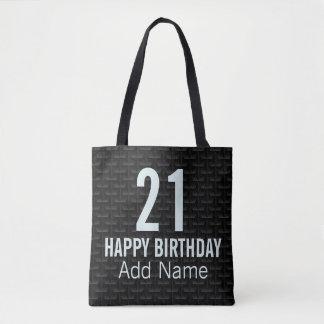 Black 3D mesh Tote Bag