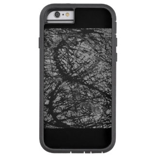 Black 6/6s phone case with paint splatter