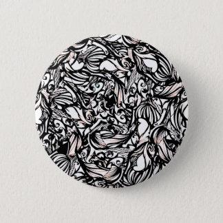 black 6 cm round badge
