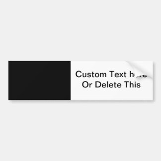 black 8 x 11 design your own product car bumper sticker