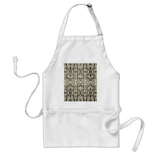 Black abstract aprons