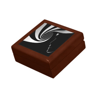 Black Abstract Gift Box