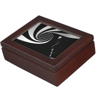 Black Abstract Keepsake Box