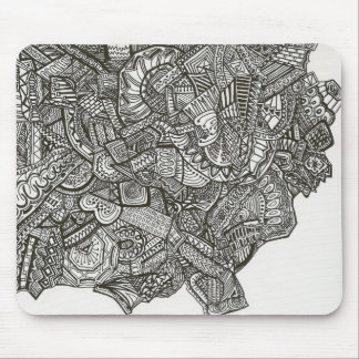 Black abstract mousepad