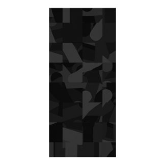 Black Abstract Pattern Rack Card