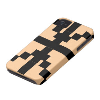 Black Abstract pattern theme iPhone 4 Covers