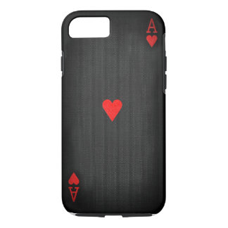 Black Ace of Hearts iPhone 8/7 Case