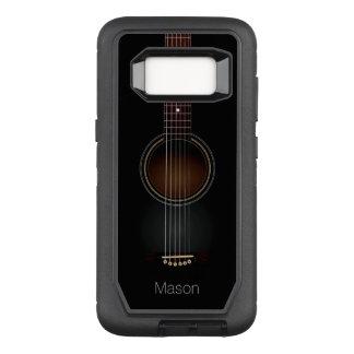 Black Acoustic Guitar OtterBox Defender Samsung Galaxy S8 Case
