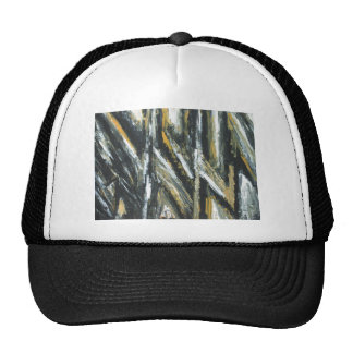Black Acute Angles(abstract expressionism) Cap