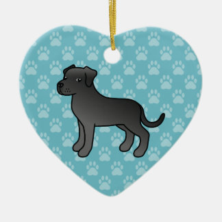 Black Adorable Cane Corso Dog Ceramic Ornament