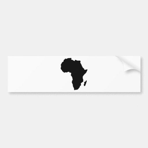 black africa shape bumper sticker