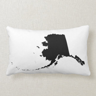 Black Alaska Shape Lumbar Pillow