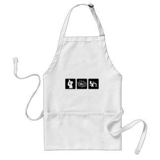black alcohol picture icon apron