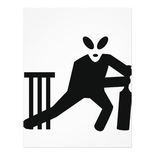 black alien cricket icon personalized flyer