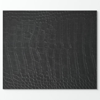 Black Alligator Exotic Leather Pimp Wrapping Paper