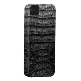 Black Alligator Skin #1c Case-Mate iPhone 4 Cases
