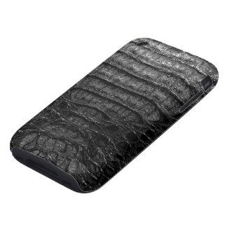 Black Alligator Skin #1c Tough iPhone 3 Cover